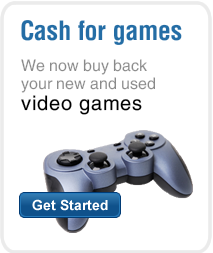 Cash for games. We now buy back your new and used video games!