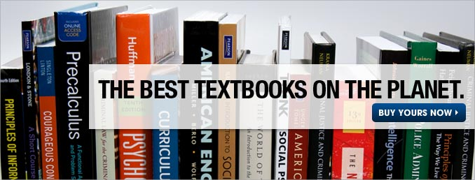 The best textbooks on the planet. Buy used and new textbooks now.